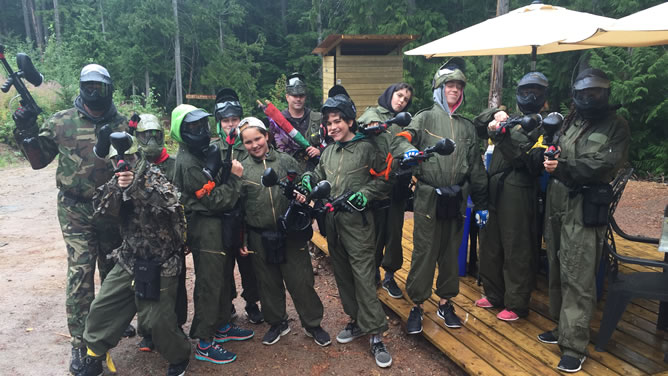 Avalanche Whistler Paintball Birthdays