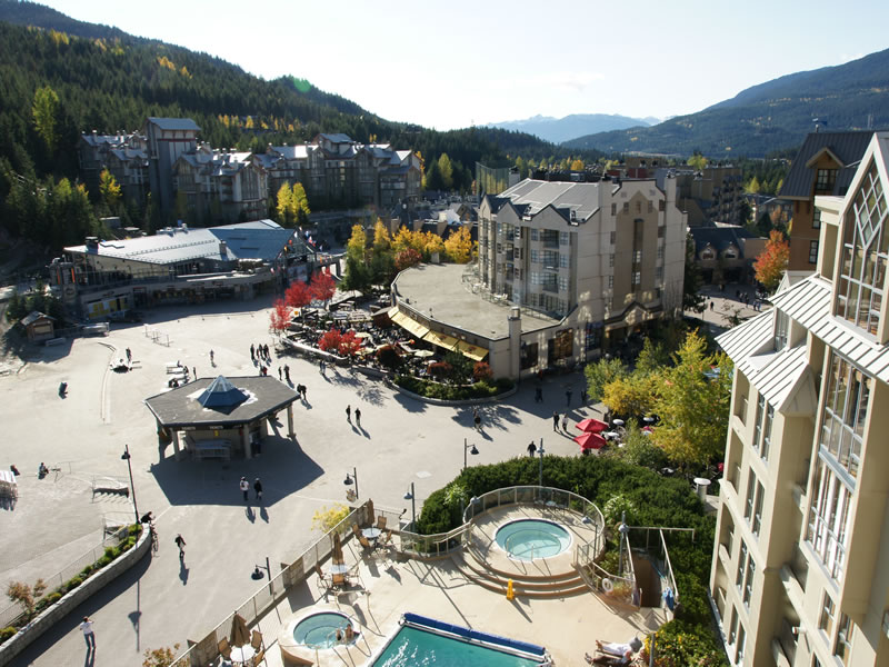 Skiers Plaza in Whistler BC