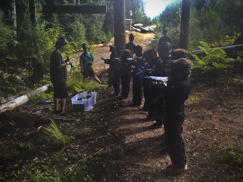 Kidsplat at Avalanche Paintball Whistler