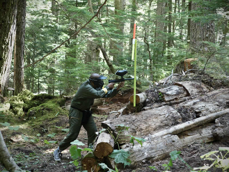 Woodsball Paintball in Whistler BC